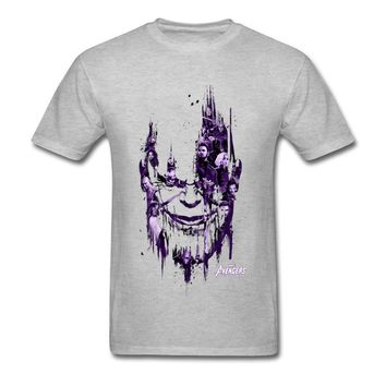 Supernatural Thanos Pride Tshirt For Men Top Quality Avengers Infinity War T Shirt Satan Legend T-Shirt Spiderman Marvel Cotton