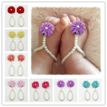 Newborn Baby Girls Anklet Foot Band Toe Rings