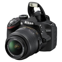 Nikon D3200 24.2MP Digital SLR Camera with 18-55mm VR Lens  Black (25492)