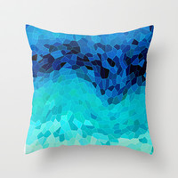 INVITE TO BLUE Throw Pillow by Catspaws | Society6