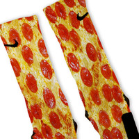 Pepperoni Pizza Custom Nike Elite Socks