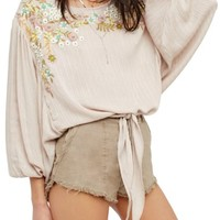 Free People Up & Away Embroidered Peasant Blouse | Nordstrom