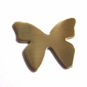 1 inch brass butterfly stamping blank, qty - 5
