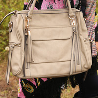 I'm Sure Of It Purse: Taupe         - One