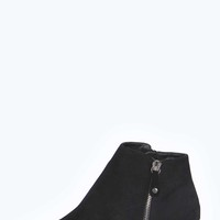 Libby Suedette Peeptoe Ankle Boot