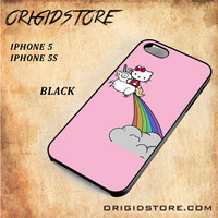 HELLO KITTY UNICORN Snap on 2D Black and White Or 3D Suitable With Image For Iphone  5/5S Case