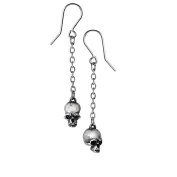 Jawless Deadskulls Pair of small pewter Earrings