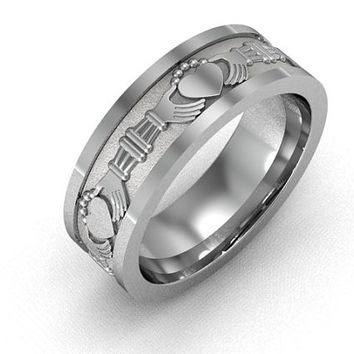 Claddagh Ring -  Men's Claddagh Engagement and  Wedding Band
