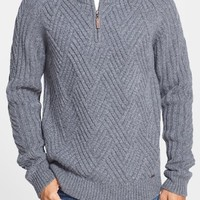 Men's Timberland 'Moose River' Regular Fit Textured Knit Merino Wool Half Zip Sweater