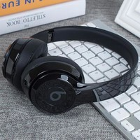 Trending Women Men Beats Solo 3 Wireless Magic Sound Bluetooth Wireless Hands Headset MP3 Music Headphone with Microphone Line-in Socket TF Card Slot Black I