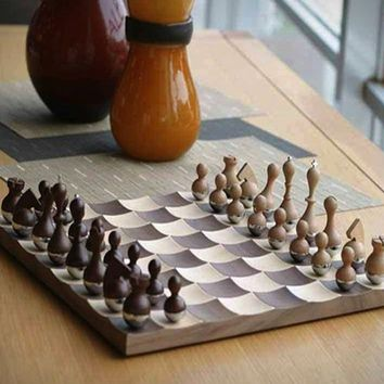 Wobble chess set by umbra from awesome - Umbra chess set ...