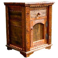 Rustic Red Fir & Barnwood Nightstand Country Roads II Collection
