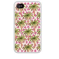 Palm Trees Cell Phone Case Cover Apple iPhone 4 4S 5 5S Samsung Galaxy S3 S4 Pink Green Summer Beach Tropical Tree Resort FREE SHIPPING!
