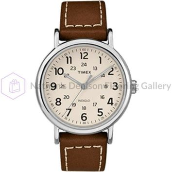 Timex Weekender® 2-Piece Leather Strap Watch - Cream