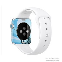 The Vector Blue Abstract Fish Full-Body Skin Kit for the Apple Watch