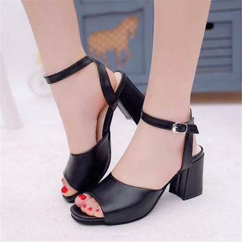 Summer shoes woman Fashion Sandals Women Open Toe Women Sandals Wedges Soft Leather Breathable women shoes zapatos mujer X22