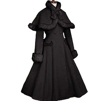 Gothic Lolita Coat adult princess costume medieval lolita coat Long Sleeve with cape party halloween for women plus size custom Macchar Cosplay Catalogue
