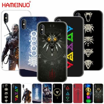 HAMEINUO The Witcher 3 Wild Hunt signs cell phone Cover case for iphone 6 4 4s 5 5s SE 5c 6 6s 7 plus case for iphone X 8