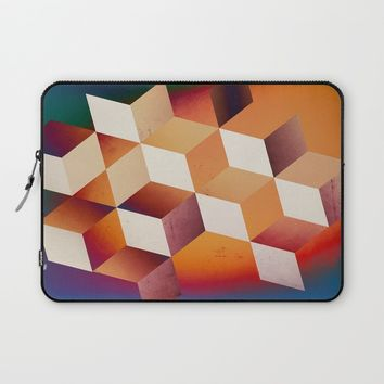 Oil Slick Cubes Laptop Sleeve by DuckyB (Brandi)