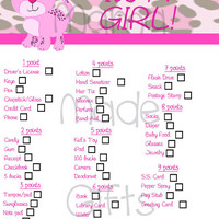 Baby Shower Game - Pink Leopard Themed - Print it Yourself