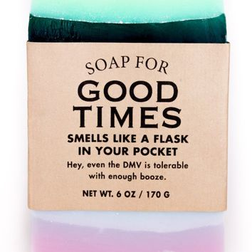 Good Times Straight Up Hooch Scented Soap - Smells Like A Flask In Your Pocket