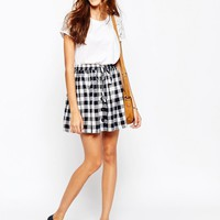Jack Wills | Jack Wills Drawstring Mini Buffalo Check Skirt at ASOS
