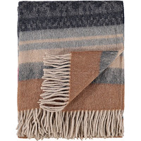 Incalpaca Brown & Grey Stripe Alpaca Throw