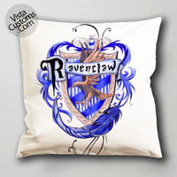 harry potter ravenclaw pillow case, cushion cover ( 1 or 2 Side Print With Size 16, 18, 20, 26, 30, 36 inch )