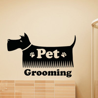 Wall Decal Pets Grooming Salon Decals Vinyl Stickers Dog Puppy Pet Shop Animal Decor Kids Nursery Baby Room Wall Art Interior Design Z809