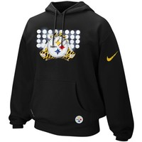 Nike Pittsburgh Steelers Glove Lockup Pullover Performance Hoodie - Black