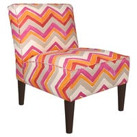 Finnegan Chevron Chair, Orange, Accent & Occasional Chairs