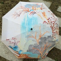 Art Umbrella Creative Hand-painted Chinese Painting  Personality Umbrella Chinese Sping Wind umbrella