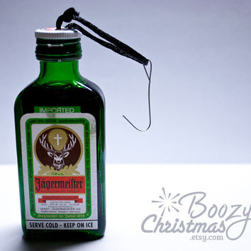 Jager Christmas Ornament-- Jaegermeister Themed Christmas Tree Ornament.