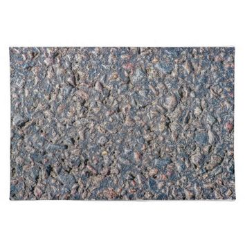Asphalt and pebbles texture cloth placemat