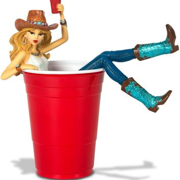 Let's Party! Girl with Solo Cup Figurine