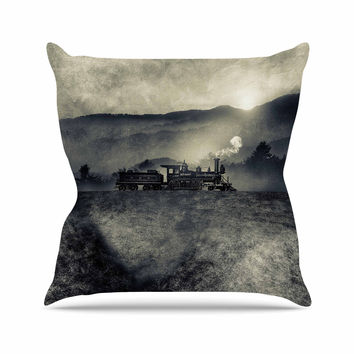 "Viviana Gonzalez ""Chapter II"" Black Gray Outdoor Throw Pillow"