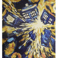 Doctor Who Exploding TARDIS Micro Raschel Throw