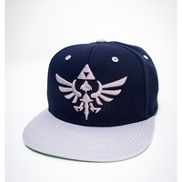 Zelda Grey and Blue Snapback Hat