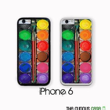 iPhone 6 Watercolor Paint Set | Hard Case For iPhone 6 Case  Plastic or Rubber Trim