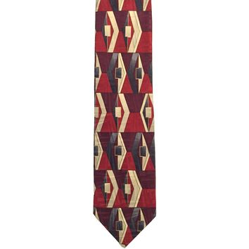 Andhurst Foulard Wide Pure Italian Silk Tie - Red