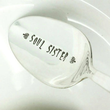 Soul Sister Spoon, Gift for Best Friend, Like a Sister, Gift for Her, Best Friend Gift, Vintage Spoon NEW Condition