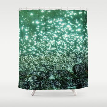 NATURAL SPARKLE Shower Curtain by Catspaws