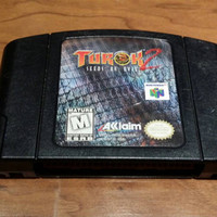 Turok 2 Seeds of evil Nintendo 64 n64 system video game console the dinosaur hunter