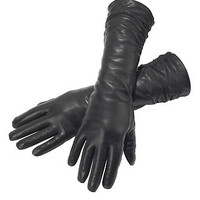 Audrey Women's Long Wool Lined Leather Gloves