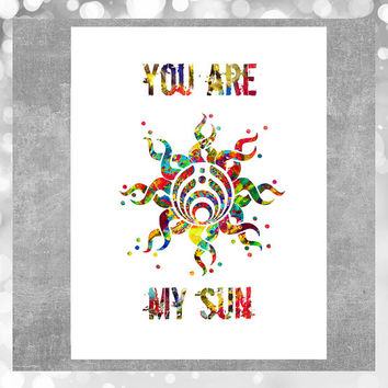 Printable love card you are my sun bassnectar card, Valentine's day Instant Download, bassnectar digital card digital downloadable card