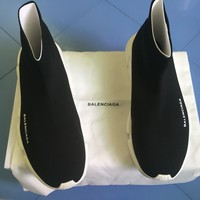 Brand New Balenciaga Speed Trainer Knit Runner Sock Black White Size 11 US