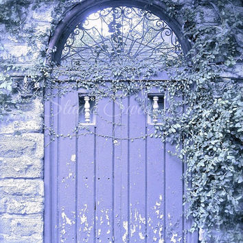 Door Photography, Old Doors, Architecture, Cottage, Rustic Photography, Purple Art, Shabby Chic Art, Lavender, Secret Garden, Chippy Paint