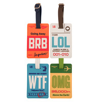 FLIGHT 001: Luggage Tag Set Of 4, at 20% off!