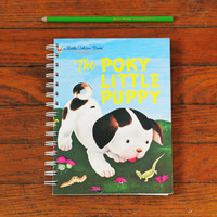 The Poky Little Puppy notebook repurposed little golden book journal
