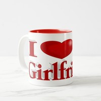 I heart My Girlfriend 3D Mug